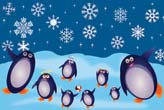 Happy Penguin Family